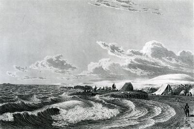 Expedition Encamped at Point Turnagain, 1823--Giclee Print