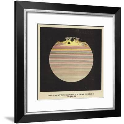 Experiment with Soap and Glycerine Bubbles--Framed Giclee Print