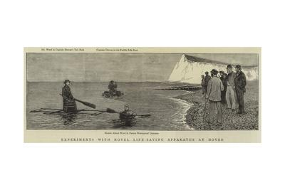Experiments with Novel Life-Saving Apparatus at Dover--Giclee Print