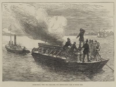 Experiments with the Pyroleter, for Extinguishing Fire on Board Ship--Giclee Print