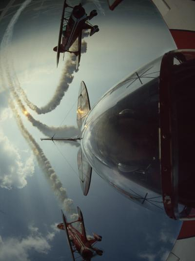 Expert Pilots Perform in Home-Built Pitts Specials at an Airshow-Jim Sugar-Photographic Print