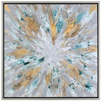Exploding Star Modern Abstract Art--Hand Painted Art