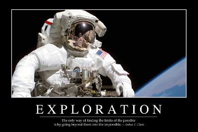 Exploration: Inspirational Quote and Motivational Poster--Photographic Print