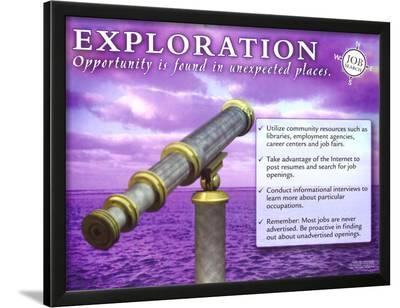 Exploration--Lamina Framed Art Print