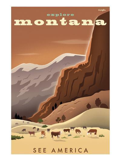 Explore Montana, See America-Michael Crampton-Art Print
