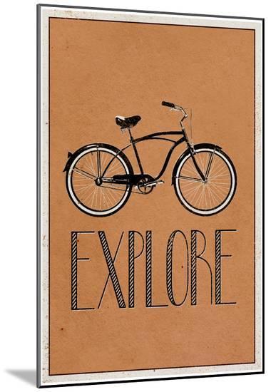 Explore Retro Bicycle Player Art Poster Print--Mounted Print