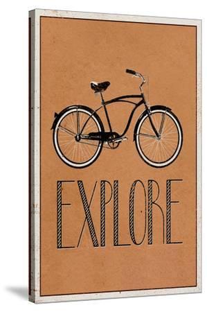 Explore Retro Bicycle Player Art Poster Print