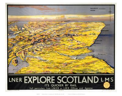 Explore Scotland Map--Art Print