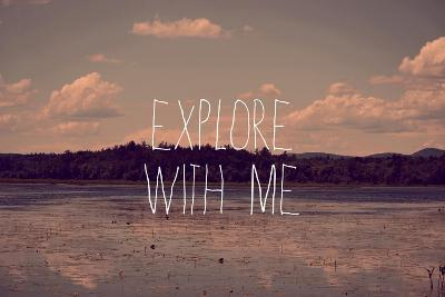 Explore with Me-Vintage Skies-Giclee Print