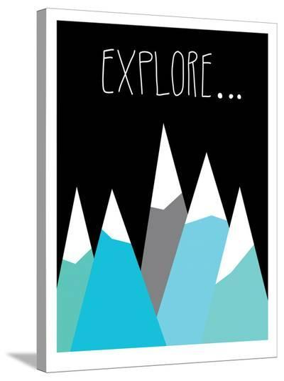 Explore-Ashlee Rae-Stretched Canvas Print
