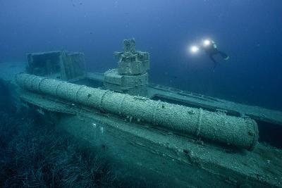 Exploring a World War Ii Shipwreck in the Ionian Sea-Andy Mann-Photographic Print