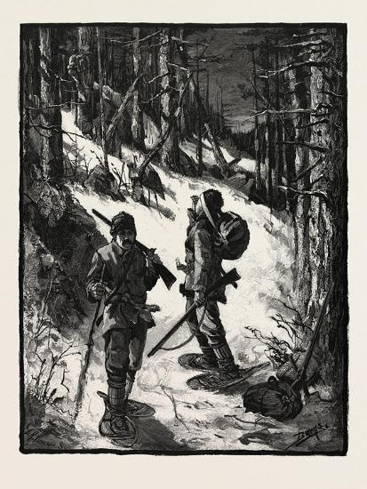 Exploring for New Limits, Canada, Nineteenth Century--Giclee Print