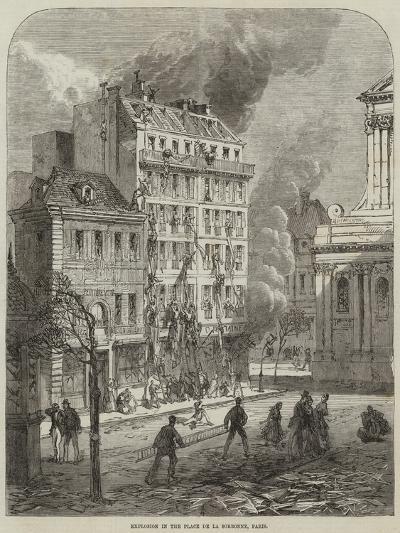 Explosion in the Place De La Sorbonne, Paris--Giclee Print