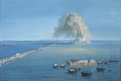 Explosion of a Mine in San Giuliano-Luigi Querena-Art Print