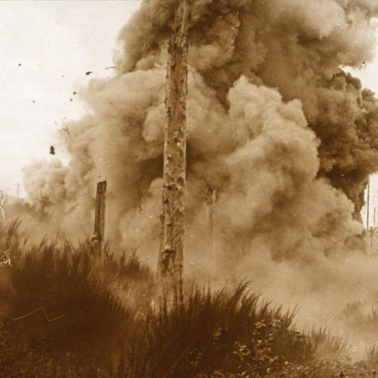 Explosion of a mine, Vosges, eastern France, c1914-c1918-Unknown-Photographic Print