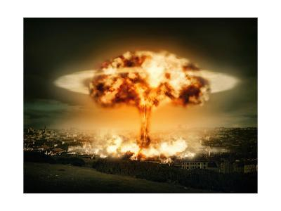 Explosion Of Nuclear Bomb-egal-Art Print