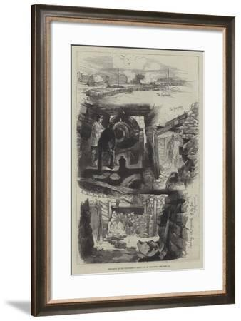 Explosion of the Thunderer's Great Gun at Woolwich-William Heysham Overend-Framed Giclee Print