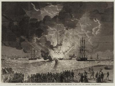 Explosion on Board the Barque Lottie Sleigh--Giclee Print