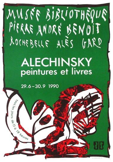 Expo 127 - Musée Pierre André Benoit-Pierre Alechinsky-Collectable Print