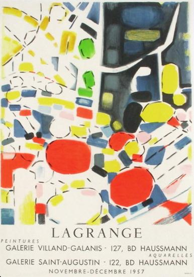 Expo 57 - Galerie Villand Galanis-Jacques Lagrange-Collectable Print