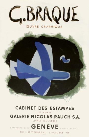 Expo 58 - Cabinet des Estampes-Georges Braque-Premium Edition
