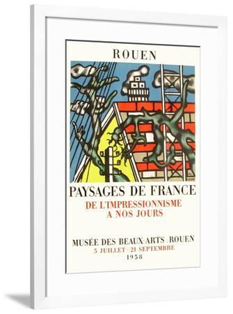 Expo 58 - Musée des Beaux-Arts de Rouen-Fernand Leger-Framed Premium Edition