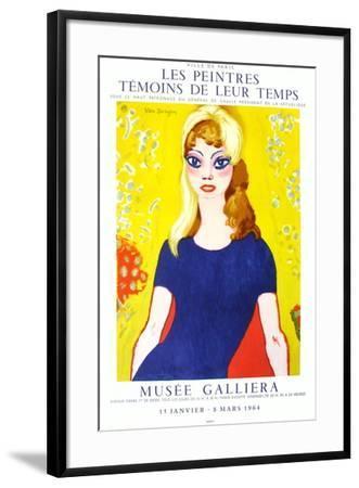 Expo 64 - Musée Galliéra Brigitte Bardot-Kees van Dongen-Framed Premium Edition