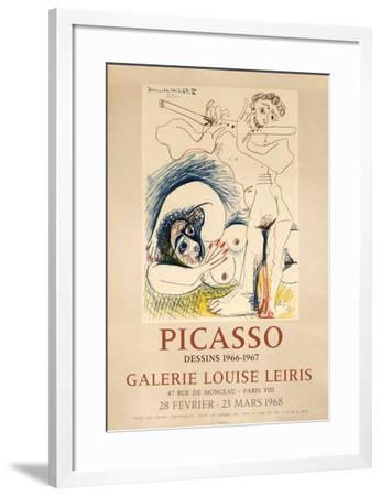 Expo 68 - Galerie Louise Leiris-Pablo Picasso-Framed Premium Edition