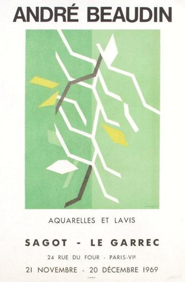 Expo 69 - Galerie Sagot-Le Garrec-Andr? Beaudin-Collectable Print