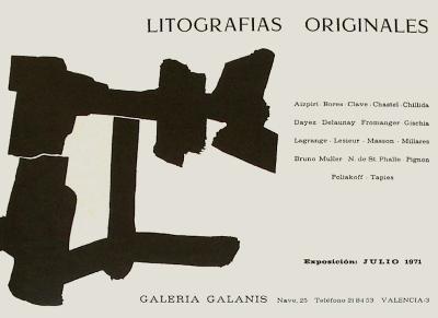 Expo 71 - Galeria Galanis-Eduardo Chillida-Collectable Print
