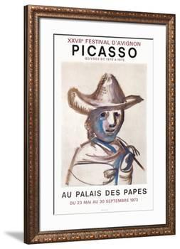 Expo 73 - Palais des Papes-Pablo Picasso-Framed Premium Edition