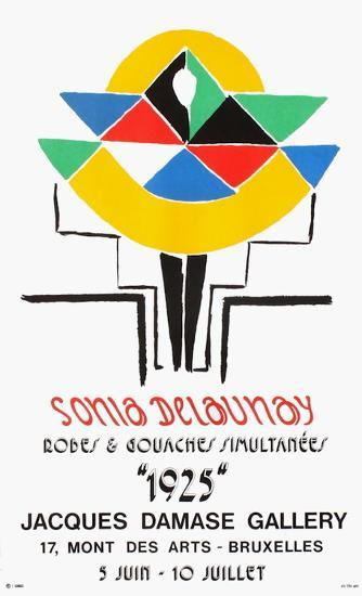 Expo 75 - Damase Gallery Bruxelles-Sonia Delaunay-Terk-Collectable Print