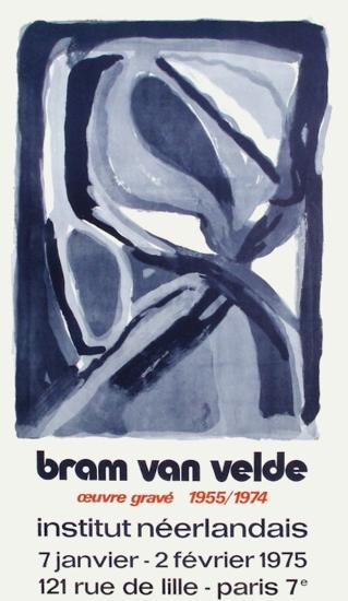 Expo 75 - Institut Néerlandais-Bram van Velde-Collectable Print