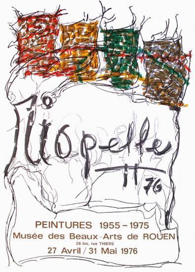 Expo 76 - Musée des Beaux Arts de Rouen-Jean-Paul Riopelle-Collectable Print