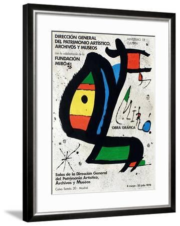 Expo 78 - Miro Obra Grafica Madrid-Joan Miro-Framed Collectable Print