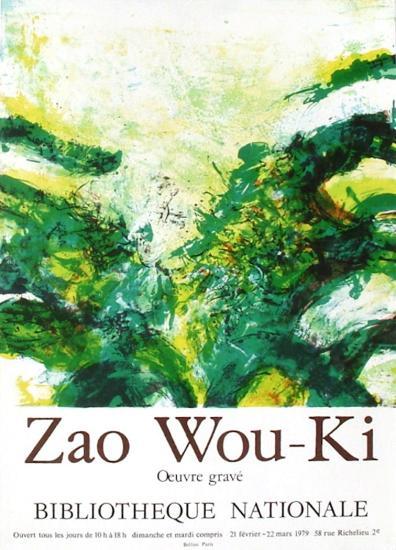 Expo 79 - Bibliothèque Nationale-Zao Wou-Ki-Premium Edition