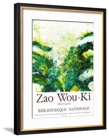 Expo 79 - Bibliothèque Nationale-Zao Wou-Ki-Framed Premium Edition
