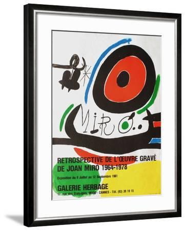 Expo 81 - Galerie Herbage-Joan Miro-Framed Premium Edition
