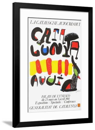 Expo 81 - La Catalogne aujourd'hui-Joan Miro-Framed Premium Edition