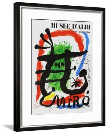 Expo 81 - Musée d'Albi-Joan Miro-Framed Collectable Print