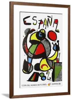 Expo 82 - Copa Del Mundo De Futbol-Joan Miro-Framed Collectable Print