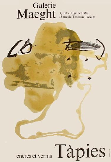 Expo Encres et vernis-Antoni Tapies-Collectable Print