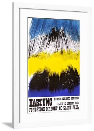 Expo Fondation Maeght-Hans Hartung-Framed Premium Edition