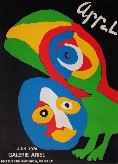 Expo Galerie Ariel-Karel Appel-Collectable Print