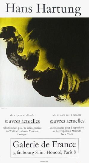 Expo Galerie De France-Hans Hartung-Collectable Print