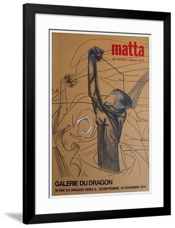 Expo Galerie Du Dragon-Roberto Matta-Framed Premium Edition