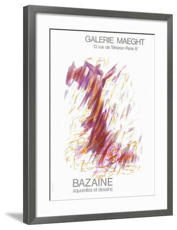 Expo Galerie Maeght 68-Jean Bazaine-Framed Collectable Print