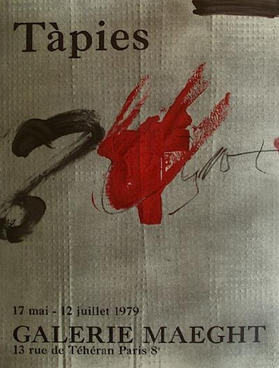 Expo Galerie Maeght 79-Antoni Tapies-Collectable Print