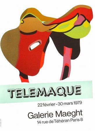 Expo Galerie Maeght 79-Herve Telemaque-Collectable Print