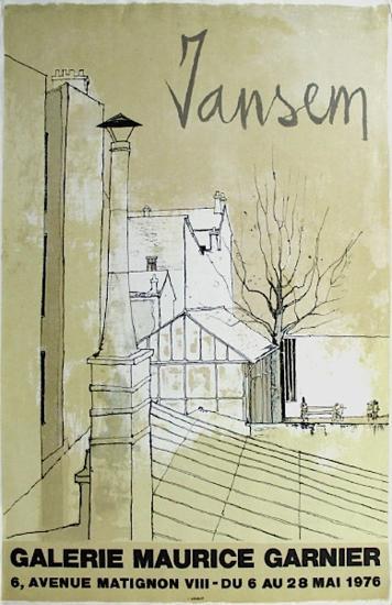 Expo Galerie Maurice Garnier-Jean Jansem-Collectable Print